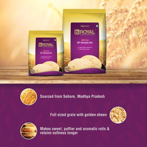 bb Royal MP Sharbati Wheat Atta - 100% Pure, 1 kg