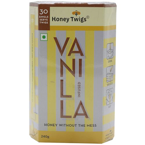 Honey Twigs Vanilla Infused Honey, 240 g Box