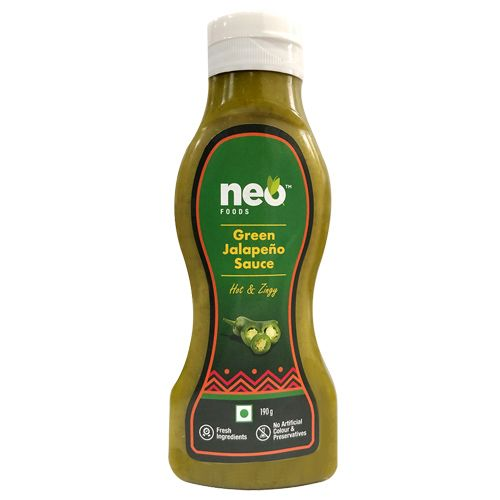 Neo foods  Sauce - Green Jalapeno, 190 g Bottle