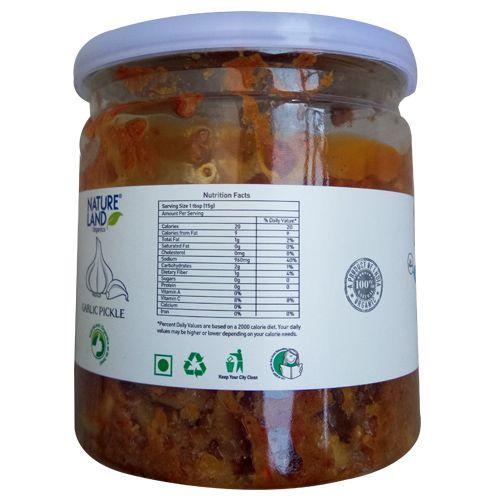 Natureland Organics Garlic Pickle, 350 g Plastic Bottle
