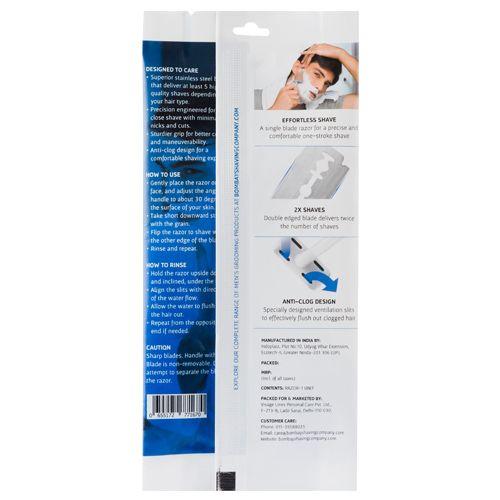 Bombay Shaving Company Double Edge Safety Razor - Blue, 1 pc