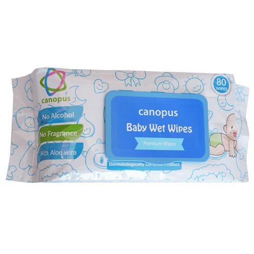 Canopus Baby Wet Wipes, 80 Pulls