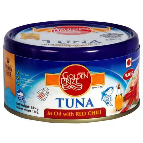 Golden Prize Tuna Sandwich Flakes In Oil With Red Chili, 185 g