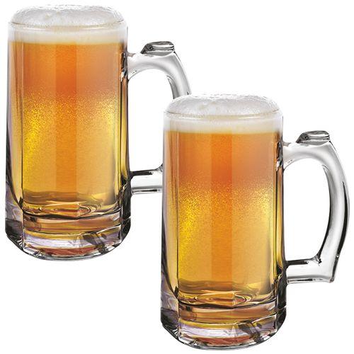 Treo Bremen Cool Glass Beer Mug, 2 pcs