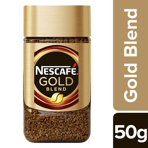 Nescafe Gold Coffee Powder - Rich & Smooth, 50 g Glass Jar
