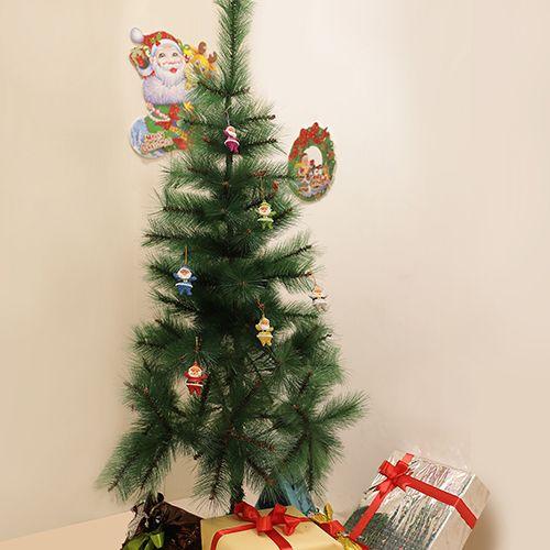 DP Christmas-Xmas Hangable Decorative Santas - Plastic, Multicoloured, BB1133 RD, 6 pcs