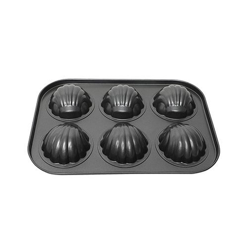 DP Muffin-Chocolate Moulds - Metal, Slot of 6, Grey, BB 1026 GRY, 1 pc