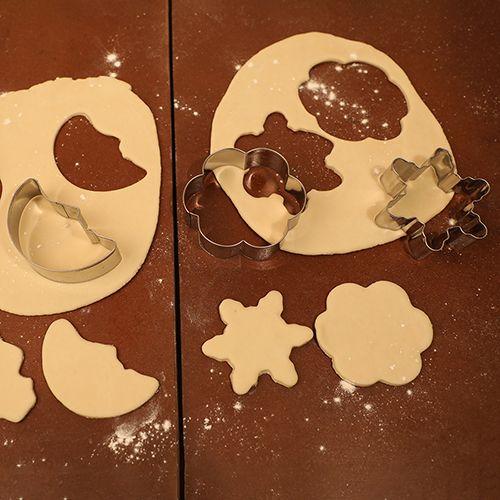 Kuki Fun Cookie-Brownie Cutters & Slicer - Stainless Steel, Silver, BB 1016 SLVR, 4 pcs