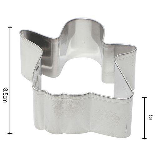 Kuki Fun Cookie-Brownie Cutters & Slicer - Stainless Steel, Silver, BB 1017 SLVR, 4 pcs