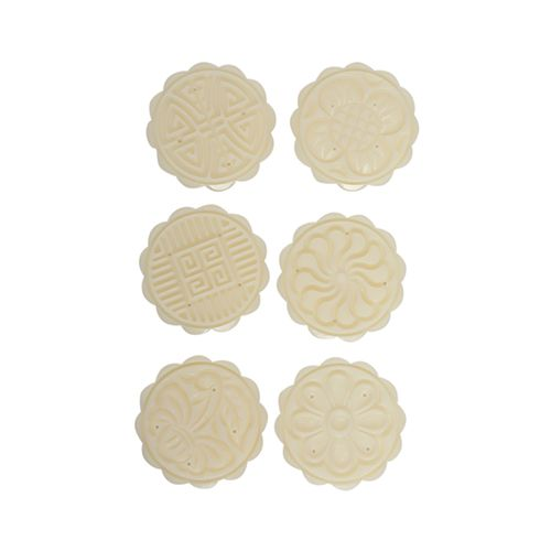 DP Fondant Decorative Punch Set - Plastic, White, BB 1022, 7 pcs
