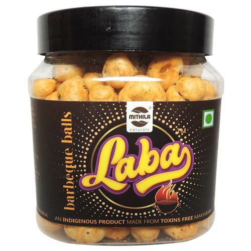 Laba Makhana - Barbecue Balls Flavoured, Roasted, Olive Oil, 90 g