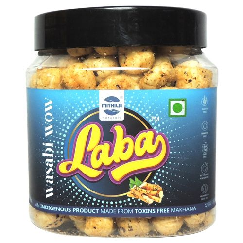 Laba Makhana - Wasabi Wow Flavoured, Roasted, Olive Oil, 90 g