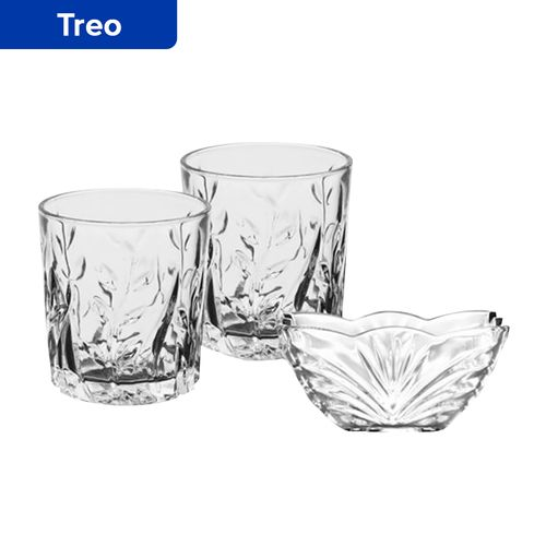 Treo Diplomat Whisky Glass With Bowl Gift Sets, 8 pcs