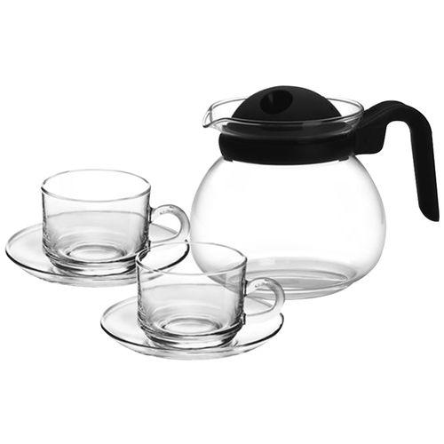 Treo Regalia Borosillicate Carafe With Cup & Saucer Gift Set, 13 pcs