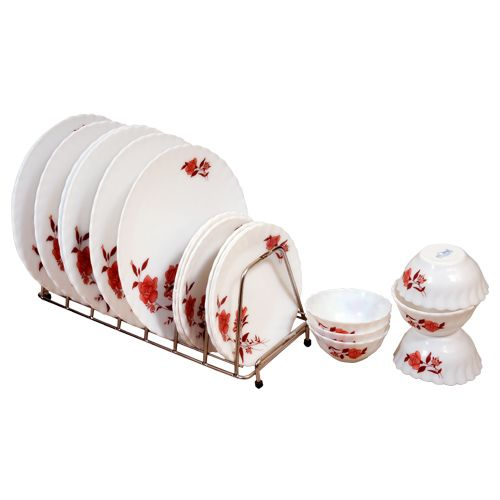 LaOpala Opalware Melody Eros Dinner Set, 18 pcs
