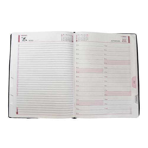 Cubic 365 Days Executive Foam Diary 2019 - B5 Size, Dark Tan, 1 pc