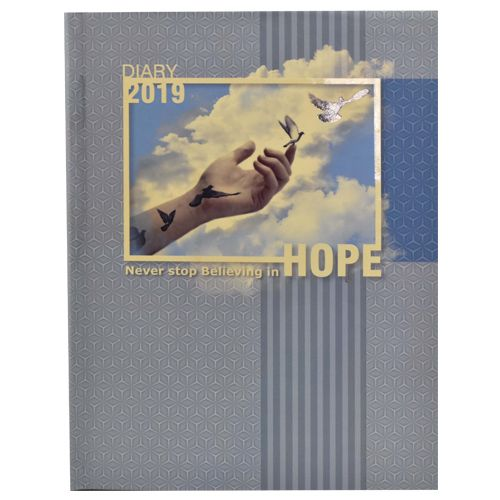 Cubic Hope Executive Diary 2019 - B5 Size, Gray, 1 pc