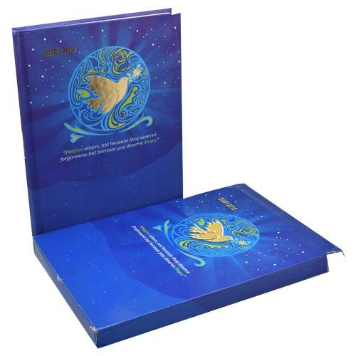 Cubic Forgive Executive Diary 2019 - B5 Size, Blue & Gold, 1 pc