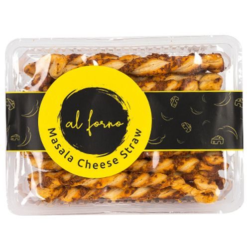 Al Forno Masala Cheese Straws, 150 gm Tray