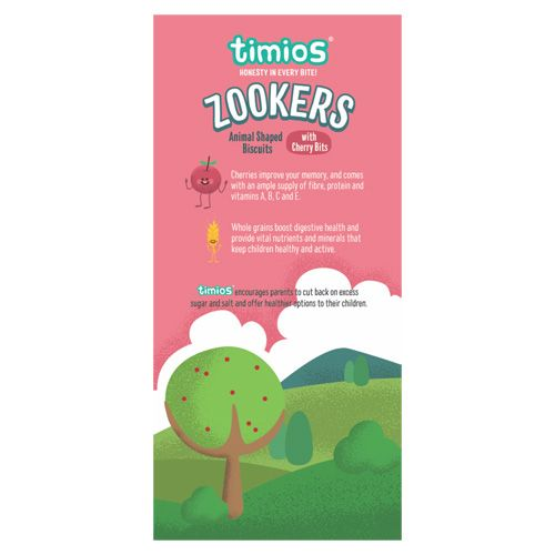 Timios Zookers - Cherry Bits, 12+ months, 150 gm