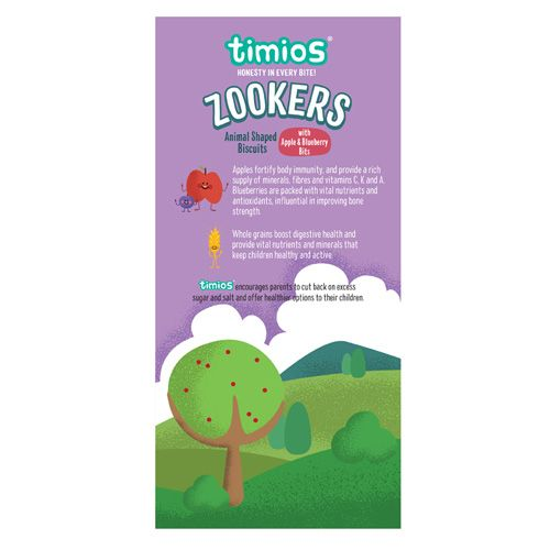 Timios Zookers - Apple & Blueberry Bits, 12+ months, 150 g