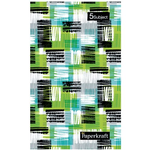 Paperkraft Assorted Colour Notebook - Expression Series, 5 Subjects, Bound, Single Line, 70 GSM, 1 pc