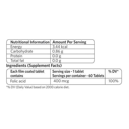 Vlcc Wellscience Capsules -Folic Acid, 60 pcs