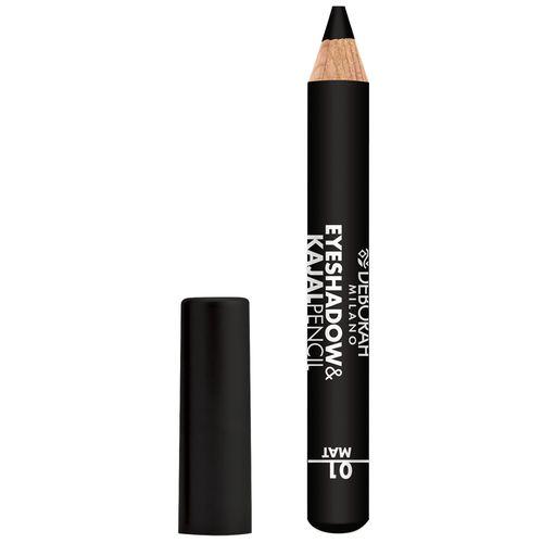 Deborah Eyeshadow & Kajal Pencil - 01 Mat Black, 2 g