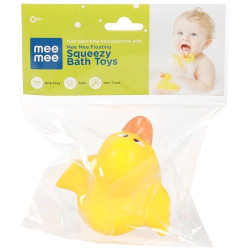 Mee Mee Floating Squeezy Bath Toys - Yellow Duck, 1 pc