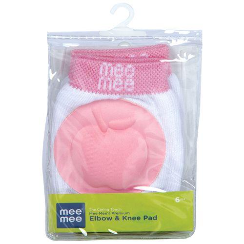 Mee Mee Soft Baby Knee/Elbow Pads - Pink, 1 pair