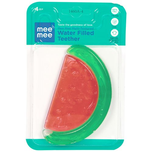 Mee Mee Multi-Textured Water Filled Teether - Green/Red, 1 pc