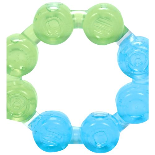 Mee Mee Multi-Textured Water Filled Teether - Green/Blue, 1 pc