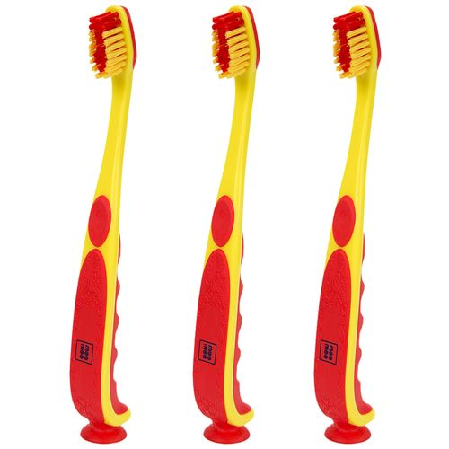 Mee Mee Infant To Toddler Toothbrush - Red/Yellow, 3 pcs