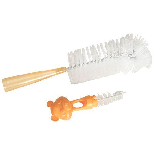 Mee Mee Bottle & Nipple Cleaning Brush - Orange, 1 pc
