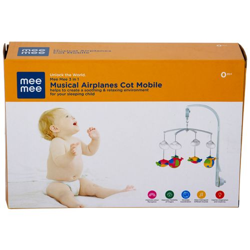 Mee Mee Musical Animal Cot Mobile - 4-Toy Flying Theme, 0.48 g