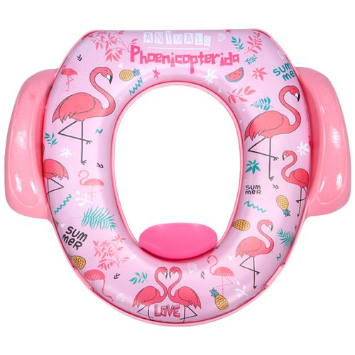 Mee Mee Cushioned Non-Slip Potty Seat With Easy Grip Handles & Pee Shield - Pink, 1 pc
