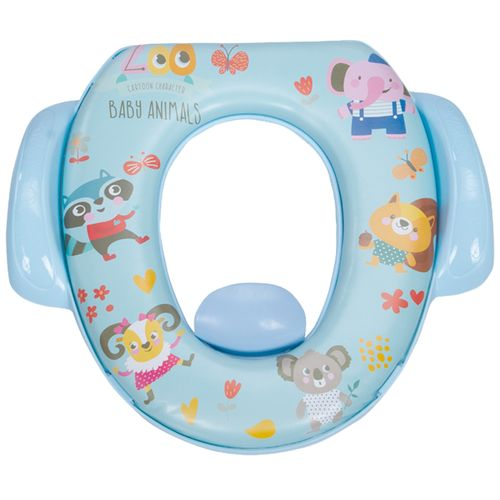 Mee Mee Cushioned Non-Slip Potty Seat With Easy Grip Handles & Pee Shield - Blue, 1 pc