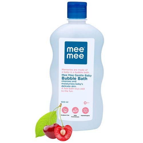 Mee Mee Gentle Baby Bubble Bath - White, 500 ml