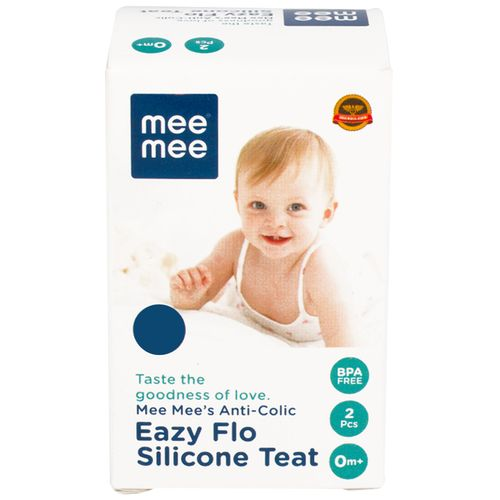 Mee Mee Anti-Colic Easy Flo Silicone Teat - Small, 200 g