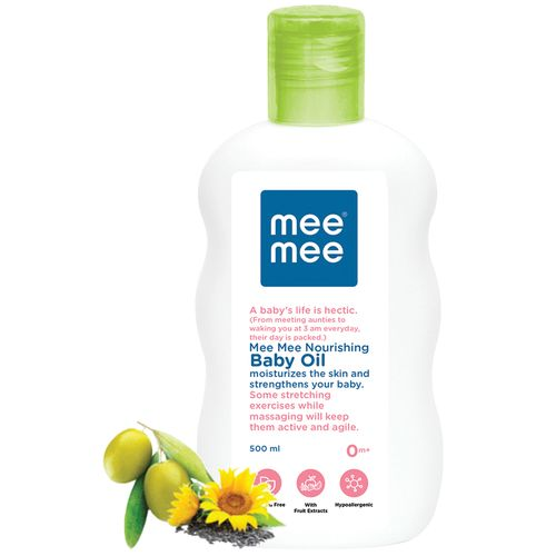 Mee Mee Baby Oil With Fruit Extracts, 500 ml