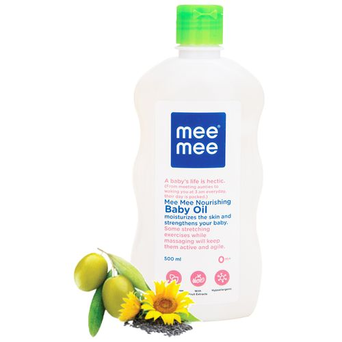 Mee Mee Baby Oil With Fruit Extracts - White, 500 ml