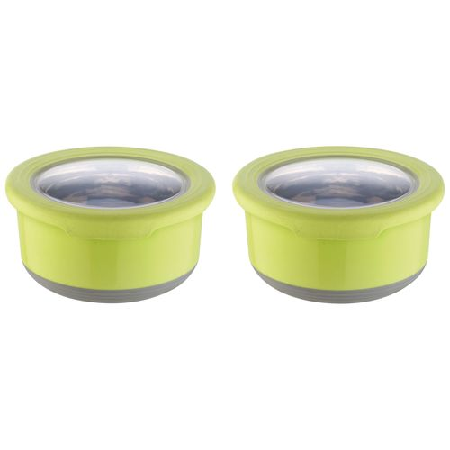 Joyo Fusion Food Storage Container - Stainless Steel, Assorted, 725 ml Set of 2