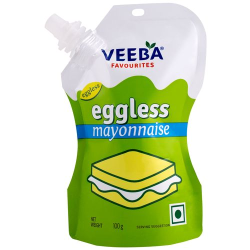 Veeba Eggless Mayonnaise, 100 g Standy Pouch