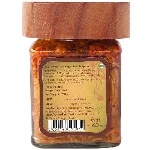 The Earth Reserve All Natural Pickled Root Mango Ginger Rhizome, 250 g