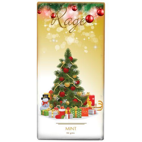 Rage Rage Merry Christmas Tree Chocolate - Mint, 90 g