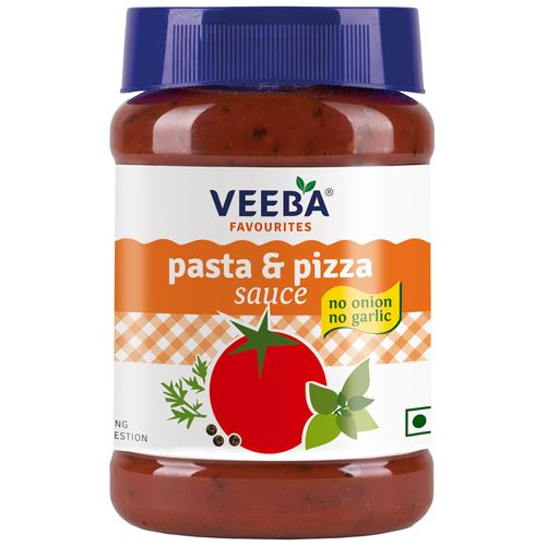 Veeba Pasta & Pizza Sauce - No Onion & No Garlic, 310 g Pet Jar
