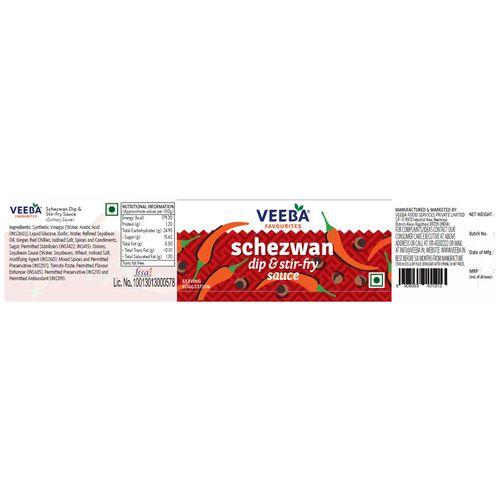 Veeba Schezwan Dip & Stir-Fry Sauce, 320 g Pet Jar