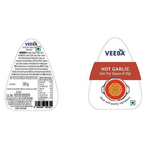 Veeba Hot Garlic Stir Fry Sauce & Dip, 330 g Pet Jar