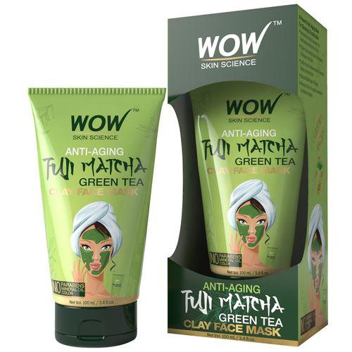 Wow Skin Science Anti-Aging Fuji Matcha Green Tea Clay Face Mask, 100 ml Tube