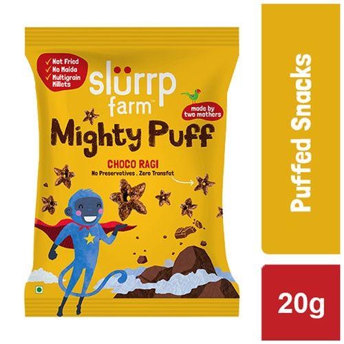 Slurrp Farm Mighty Puff - Choco Ragi, 20 g Pouch